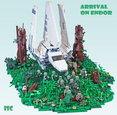 https://flic.kr/p/zTntN9   Arrival on Endor   I don't by many of the new Star Wars sets, but not owning a Tydirium shuttle and the sweet figures inspired me to have a go at the arrival on Endor scene from RotJ. Hope you like.