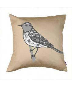 Black and grey Bird cushion