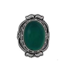 NOVICA Hand Made Sterling Silver Green Onyx Cocktail Ring India ($45) ❤ liked on Polyvore featuring jewelry, rings, cocktail, onyx, sterling silver jewelry, holiday jewelry, cocktail ring, sterling silver oval ring and handcrafted jewelry