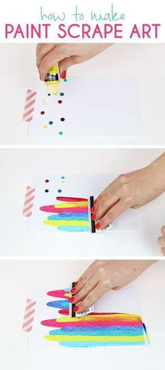 This DIY art project idea is really easy, so much fun, and makes beautifully colored notecards. You just need a few simple supplies you may already have! #artsandcrafts