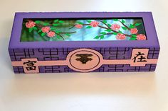 """Box with stained glass """" cherry Blossoms"""" Wooden box Jewelry box Ring box Wood box Wedding ring storage Wood Jewellery box Jewelry box wood"""