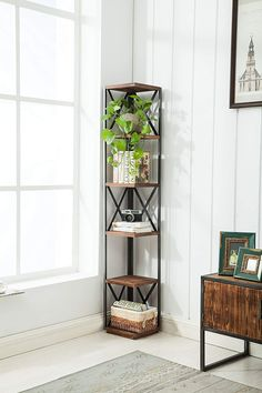 Best Farmhouse Corner Shelves for your Country Home!  It can be difficult to find country corner shelves and rustic themed corner shelves so we put together a list of the best possible farm home corner shelves you can find.