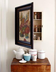 hiding medicine cabinet