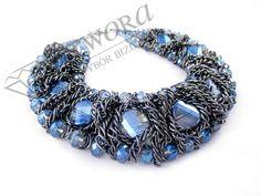 Masywna szara kolia z błękitnymi kamieniami. Jewelry, Fashion, Moda, Jewlery, Jewerly, Fashion Styles, Schmuck, Jewels, Jewelery