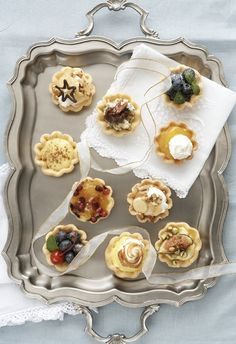 Flan cases - With a packet of flan cases in your fridge, you'll be ready for unexpected guests this festive season. Flan, Easy Desserts, South Africa, Tea Party, Tart, Panna Cotta, Deserts, Good Food, Appetizers