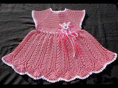 Crochet Baby Dress Free Pattern, Baby Dress Patterns, Crochet Tunic, Crochet Baby Clothes, Irish Crochet, Crochet Tops, Crochet Summer Dresses, Crochet For Kids, Beautiful Crochet