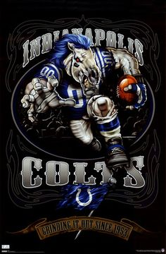 Indianapolis Colts Mascot Poster