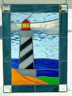 Stained Glass Lighthouse by SLSstainedglass on Etsy