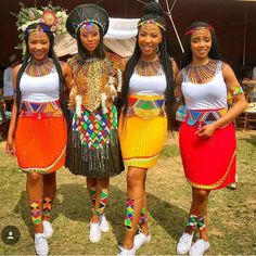 Zulu Traditional Attire, Zulu Traditional Wedding, South African Traditional Dresses, Traditional Outfits, African Wedding Theme, African Wedding Attire, African Attire, Short African Dresses, African Fashion Dresses