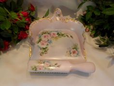 """Limoges """"Silent Butler"""" - used to brush crumbs from the table between courses, late 18th - early 19th century."""
