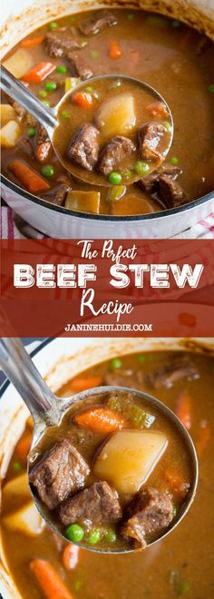 The Perfect Beef Stew Dinner Recipes beef stew recipe Best Soup Recipes, Beef Recipes For Dinner, Chowder Recipes, Meat Recipes, Slow Cooker Recipes, Crockpot Recipes, Cooking Recipes, Beef Stew Recipes, Stewing Beef Recipes