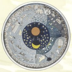 Inuit artist Kenojuak Ashevak's painting depicts the circle of Arctic seasons. Her painting shows open water for less than half of the year | Arctic Year