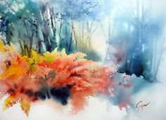 Jean-Claude Papeix Watercolors (floral, scenic, portraits, Europe)