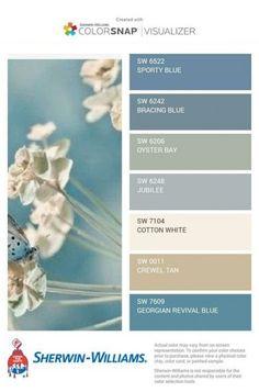 paint colors 37 Ideas bath room blue accents beach houses for 2019 Interior Paint Colors, Paint Colors For Home, Interior Design, Interior Ideas, Paint Colours, House Color Schemes Interior, Beach Paint Colors, Best Blue Paint Colors, Modern Interior