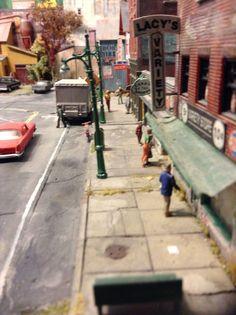 Eksempel på patinering af gade og vej...
