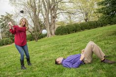 Fun idea since these two met on the golf course #engagement #weddings