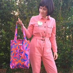 @marybobbin totes rockin' her boiler suit (honestly wow 🤩) and Daisy Daze tote! We love the clever and lovely @marybobbin , if you haven't yet checked our her wonderful wares, you must! 😍 I'm thinking Daisy Daze needs to return in a new colourway...perhaps some lovely vintage browns and oranges? Or greens? What's your vote?!⠀⠀⠀⠀⠀⠀⠀⠀⠀ ⠀⠀⠀⠀⠀⠀⠀⠀⠀ ・・・⠀⠀⠀⠀⠀⠀⠀⠀⠀ TOTES!! So many vibrant, practical, one of a kind totes made to last with box bottom construction, top stitched seams for strength… Textile Design, Fabric Design, Boiler Suit, Our Love, Totes, Daisy, Clever, Joy, Suits