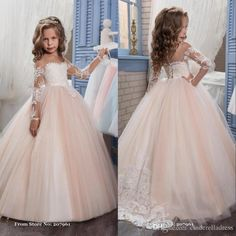 Give your little girl the romantic champagne 2017 puffy flower girl dresses for weddings organza ball gown girl birthday party communion dress pageant gown in cinderelladress as a good gift and have her shine like a bright star with pageant dress for girls,pageant dresses 2015and pageant dresses for little girl.