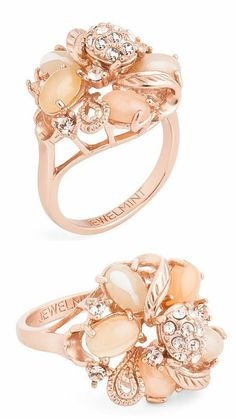 Blushing Coral Bouquet Ring ♥