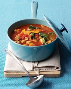 Chunky Turkey-Vegetable Soup - Martha Stewart Recipes