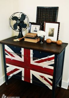British painted desk