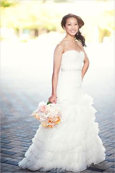 white wedding gown by Shin Bu Bridal