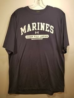 4d53c747081 Under Armour Marines Heat Gear Tee Mens Size L Large Camp Fuji Japan Semper  Fi