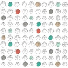pipsqueak-press: Endpaper— this could be great! patternandco: Faces Pattern by ankepanke_design on Flickr.