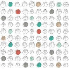 Faces Pattern by ankepanke_design