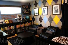 blue i style: {One Room Challenge} The Reveal - Vintage Preppy Little Gentleman's Lounge