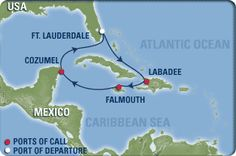 Royal Caribbean: Fort Lauderdale, Florida; Labadee, Haiti; Falmouth, Jamaica; Cozumel, Mexico; Fort Lauderdale, Florida