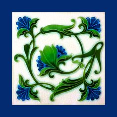 40 Original tile by PIlkington (1902). Image enhancement by…