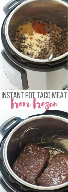 Instant Pot Taco Meat from Frozen Ground Beef