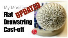 LOOM KNITTING Cast-off Flat Drawstring for Hats and Toys on Round Loom *use this to finish off the bottom of the produce bags, the ones with the mock mesh stitch* Loom Knitting Stitches, Knifty Knitter, Knitting Machine Patterns, Loom Knitting Projects, Knitting Videos, Loom Patterns, Knitting For Beginners, Easy Knitting, Knitting Tutorials