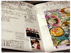 "Good timelines for journaling and prompts Stephanie Ackerman's ""Documented Life Project"" pages."
