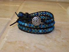 Leather Wrap BraceletBoho Wrap BraceletBlack by LillyBeadsDesigns