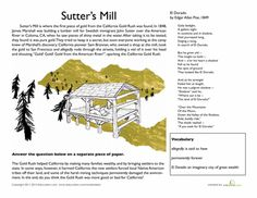 Worksheets: California Gold Rush: Sutter's Mill