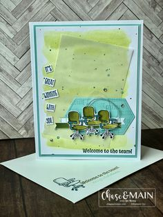 Diy Cards, Craft Cards, Welcome To The Team, Wink Of Stella, Friendship Cards, Handmade Greetings, Stamping Up, Stampin Up Cards, Thank You Cards