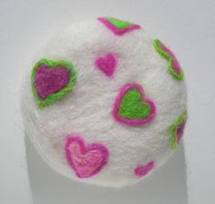 Candy Hearts Organic Felted Soap by Engelfelt $13USD #etsy