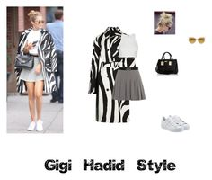 """Gigi Hadid"" by nana-yaa-1 on Polyvore featuring DVF, Diane Von Furstenberg, Elizabeth and James, W118 by Walter Baker, River Island, Vivienne Westwood, adidas Originals, women's clothing, women's fashion and women"