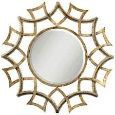 Above Fireplace? Uttermost  Golden Voyage Round 40 Wide Wall Mirror
