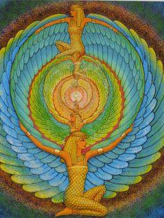 ISIS magique ailes déesse égyptienne par HalstenbergStudio sur Etsy Isis Goddess, Goddess Art, Egyptian Goddess, Mother Goddess, Mandala Art, Egyptian Mythology, Ancient Egyptian Art, Magic Wings, Art Visionnaire