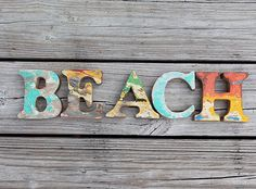 Beach Decor Vintage Style BEACH sign Nautical Wooden by SEASTYLE, $78.00