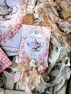 vintage tag - for tea time/party invites