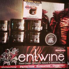 """Entwine Couture Products. At Tru'Mane """"The Natural Spot""""  332 S. Market Street Inglewood CA 90301 (213)235-6533 Why spend all day searching websites for natural hair care products and waiting several days for delivery? Come in and leave the same day with natural hair care products we all love.  #Trumanenatural #EntwineCouture #HealthyHair #NaturalHairCare #NaturalProducts #LANaturals #LACurlyGirls #LAHair #LosAngeles #Inglewood #BlackOwnedBusiness #BossLady #TeamNatural_ #LuvYourMane…"""