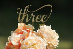 Gold + cursive table numbers for the elegant bride. #enchantingbride #tablenumbers