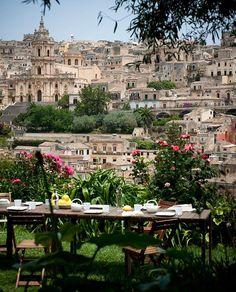 Italian Breakfast in Sicily. Casa Talia, Modica, Sicily, Italy