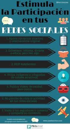 ¿Como estimular la participación en tus Redes Sociales? #Infografía