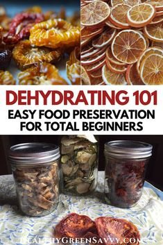 Dehydrating fruits, herbs, and vegetables is an easy, economical way to enjoy the bounties of summer. Never tried dehydrating food before? Here's what you need to know to get started. #foodpreservation #dryingfood #dehydrating #dehydratefood #preparedness #dehydrator Fresh Fruit Desserts, Fruit Recipes, Healthy Recipes, Frugal Meals, Easy Meals, Summer Potluck, Food 101, Green Living Tips, Dehydrated Food