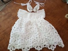 Vestido para bautizo a crochet por VeroDeAnabelle en Etsy